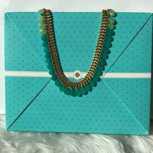 Jewelry - Blue & Green Statement Necklace with Box